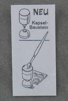 Überraschungsei Zettel von 1988 ca. 1,6 x 3,4 cm Neu Kapsel-Baustein Pinsel BPZ