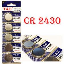 1 Pile Bouton CR2430 Lithium 3v ,4 Piles Achetés = 5 Piles Livrés. 12/2022
