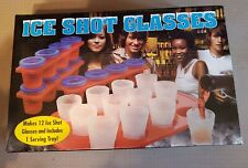 ICE SHOT GLASSES - SET OF 12 WITH TRAY  - NEW