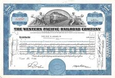 The WESTERN  Pacific Railroad Compagny Certificate 10 shares  1951 (12747)