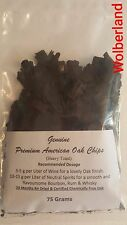 Premium American Oak Chips (Heavy Toast) 75 Grams for Spirits, Wine, Beer, Mead