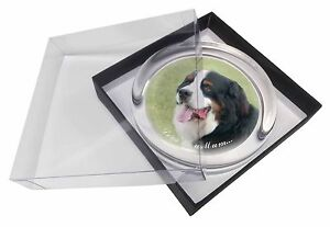 Bernese Mountain Dog 'Love You Mum' Glass Paperweight in Gift Box , AD-BER5lymPW