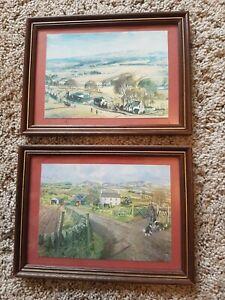 2 x Small Framed James McIntosh Patrick Prints