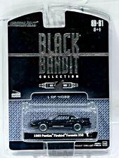 Greenlight Black Bandit 89 Pontiac Firebird Formula 350 Black 1/64 Scale Diecast