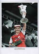 """Arsenal-1986-87 League Cup-12x16"""" Photograph Hand Signed by Kenny Sansom-Uacc Rd"""