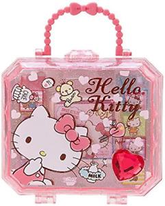 JAPAN Sanrio Hello Kitty Stamp set Cat (Set of 8pcs) Pink Jewelry Gift Box Case