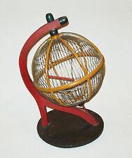 Rare antique vtg ca 1930s Folk Art Bird Cage Original Paint Unusual Ball Shaped