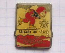 COCA-COLA / OLYMPIA CALGARY 1988 / MASCOT HIDY & HOWDY ..WinterSport Pin (125d)