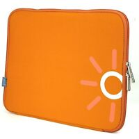 "Laptop Notebook Tablet Tasche Sleeve Hülle  Neopren 33,8cm (13,3"" Zoll) orange"
