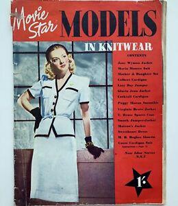 40s vintage Hollywood Movie Star fashion knitting knitwear Sweater Girls 1942