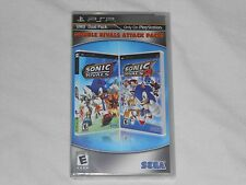 NEW Double Rivals Attack Pack Sony PSP Game SEALED Sonic Rivals 1 & 2 Rare NTSC