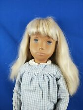 Blonde Sasha Doll Blue Checked outfit