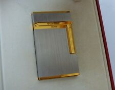 S.T. Dupont Montparnasse Lighter-Brushed Palladium/Gold Plated Trim-Boxed Papers