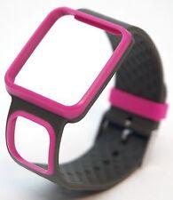 NEW TomTom Comfort Strap Slim PINK/GRAY Runner Multi-Sport GPS watch band HRM+