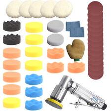45Pcs 3inch (80mm)Random Air Palm Sander/Car polisher Buff Pad Polishing Pad Set