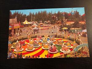 Vintage DISNEYLAND Postcard--Fantasyland--Mad Hatter's Tea Party Sky Ride 1-315