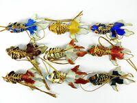 "2.8"" Cloisonne Articulated Goldfish Koi Fish,Pendant Earrings Charm Ornaments"