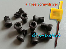 20pcs M3 x 10mm Insert Torx Screw for Carbide Inserts Lathe Tool & Screwdriver