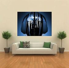 DJ DECKS HEADPHONES PAINT DRIPS NEW GIANT POSTER WALL ART PRINT PICTURE G331