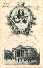 postkaart Belgische Koningshuis, 75e ANNIVERSAIRE DE L'INDEPENDANCE BELGE(pk414)