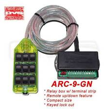 AVS Green 9 Switch Box Rocker Switch AVS-ARC-9-GN