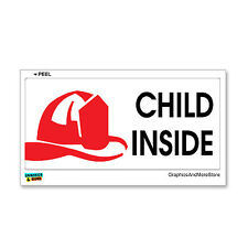 Child Inside - Home Firefighter Fireman Alert - Window Bumper Sticker