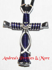 Disciples Cross Charming Necklace with Christian Fish