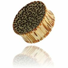 """PAIR OF CONCAVE 9/16"""" (14MM) INCH COCO WOOD PLUGS COCONUT PLUG"""