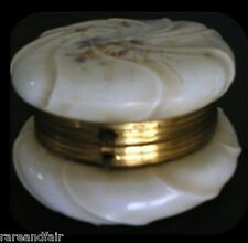 Wavecrest brass and glass dresser box- hinged lid - Free Shipping