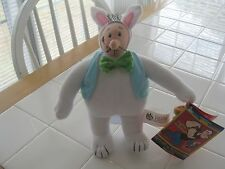 "WIMPY IN A BUNNY SUIT, POPEYE & PALS KELLYTOY, 9"" TALL, STILL HAS TAG ON"