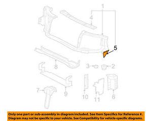 Radiator Core Support Reinforcement LH Chevrolet Trailblazer 02 -  09 15032352