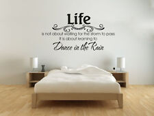 "Wall Quote ""DANCE IN THE RAIN"", Wall Sticker, Decal, Vinyl Transfer Modern"