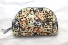 Ted Lapidus Paris Kittens Cats Soft Cloth Bag Cosmetic Toiletry Clutch