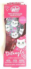 Wet Brush Girls Mini Detangler Liquid Glitter Less Breakage & Effort Pink Kitty