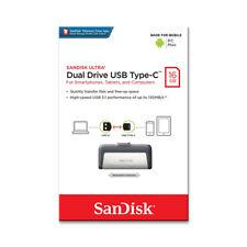 SanDisk 16GB 32GB 64GB OTG Type-C Ultra Dual USB 3.1 Flash Thumb Drive 150MB/s