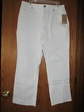 Coldwater Creek Shape Me Stretch Classic 5-pocket Jeans - WHITE - Size P16
