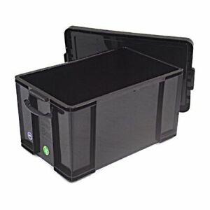 REALLY USEFUL 84 LITRE STORAGE BOX BLACK