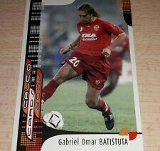 CARD CALCIATORI PANINI 2002 ROMA BATISTUTA CALCIO FOOTBALL SOCCER ALBUM