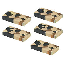 Camouflage Army Party Erasers Rubber Camo Eraser Favours Pack of 5 Free Postage