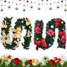 Weihnachts Girlande künstlich Tannengirlande Weihnachten Deko Gold Rot 180CM