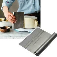 Stainless Steel Metal Cake Scraper With Measure Pizza Dough Pastry Baking Cutter
