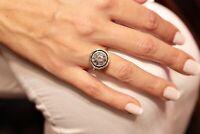 ANTIQUE ORIGINAL ROSE CUT DIAMOND 14K GOLD PERFECT STRONG RING