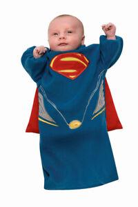 New Baby Superman Man of Steel Bunting Costume And Cape Newborn 0-9 ru886849