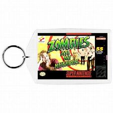 Super Nintendo Snes ZOMBIES AT MY NEIGHBORS Game BoxCover Cartridge Keychain