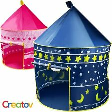 Blue Portable Folding Kids Play Tent Castle for Indoor/Outdoor Use
