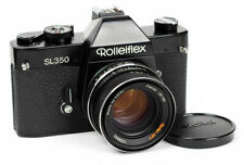 SLR Rolleiflex SL350 Black with Rollei HFT Planar 1.8/50mm and Case