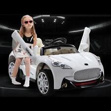 Kids Maserati Style 12V Ride On Car Battery Power Remote Control R/C Wheels Wht