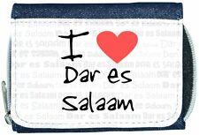 I Love Heart Dar es Salaam Denim Wallet