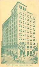 Miami Florida Robert Clay Hotel Street View Vintage Postcard K55132