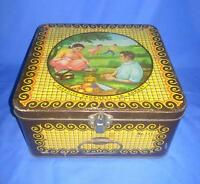 Vintage Old Collectible Paradise Products Co. Litho Print Ad Tin Box ADV EHS